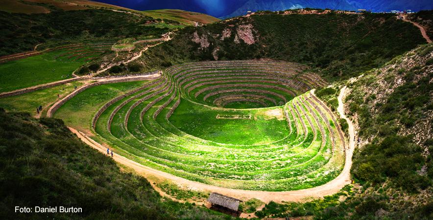 El Complejo arqueologico de Moray cuenta con una variada condici+¦n clim+ítica