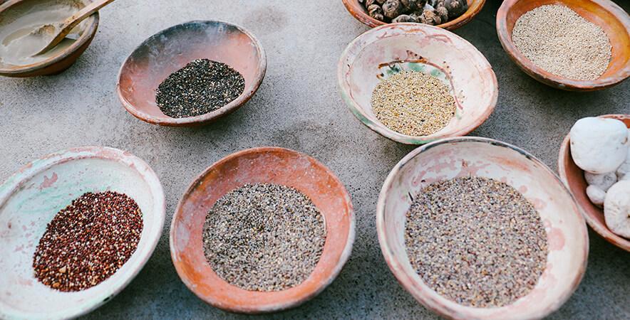 Types of quinoa chaufa festival Sabores del Titicaca in Puno