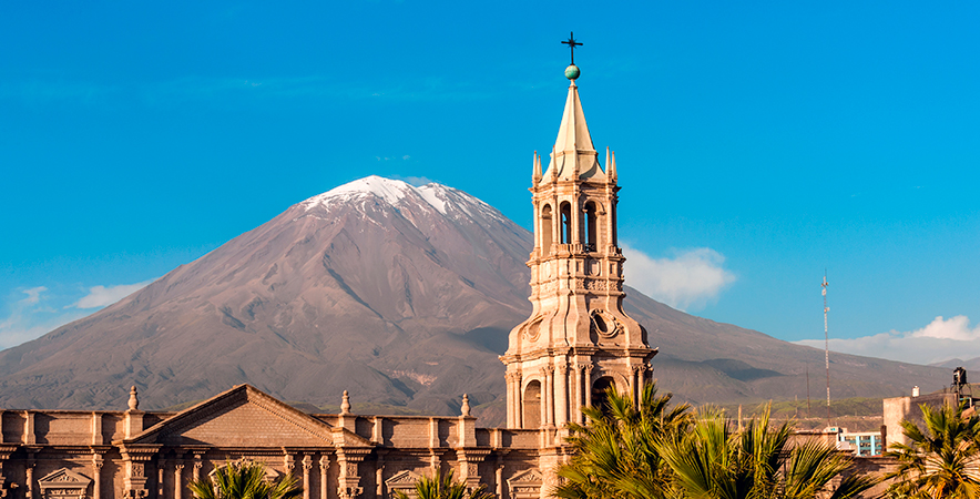 Volcan Chachani nubes Arequipa