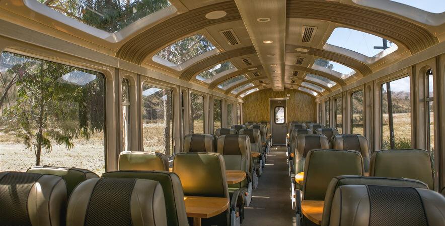 Vistadome Train. Machu Picchu Cusco.