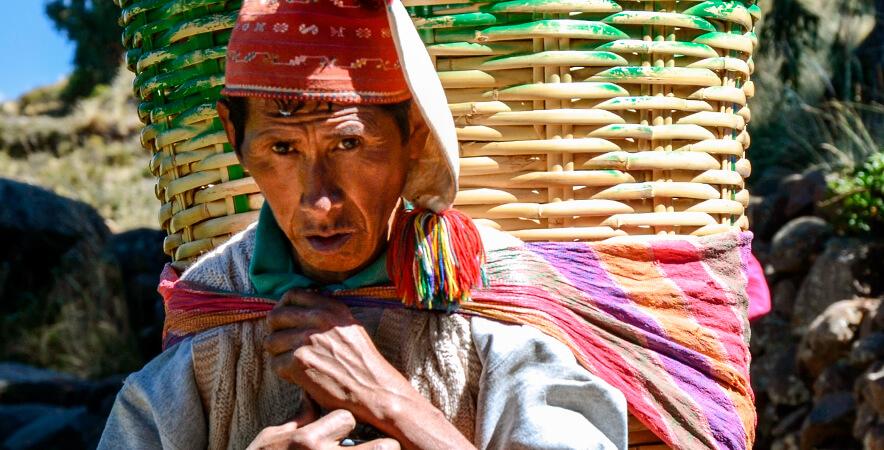 Ancestral baskets Inca nobility Puno