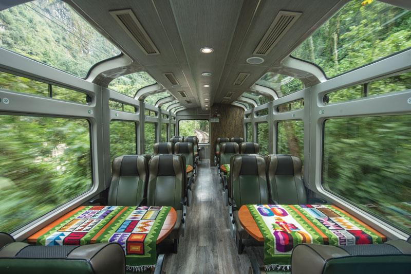 Tren a Machu Picchu, Vistadome
