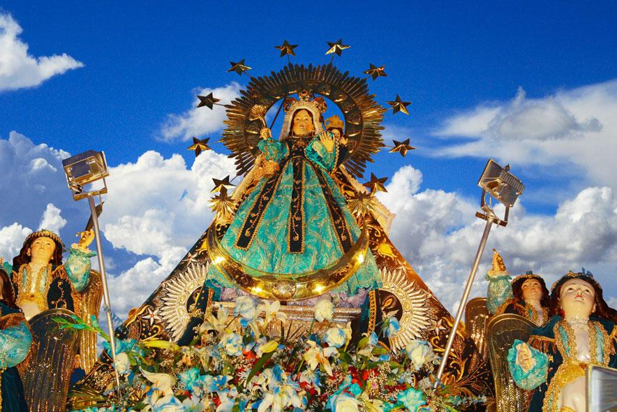 Escultura de la Virgen de la Candelaria